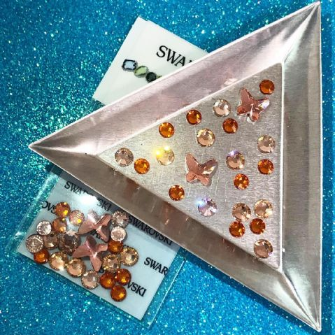 22pc Big  Bling Mixed Pack  - Peach Butterflies